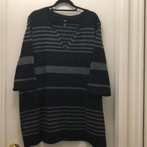 Avenue striped tunic sweater, size 26/28